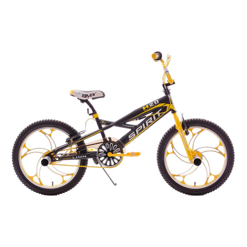 spirit lion bmx 20 inch yellow