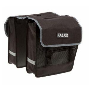 Falkx 26L dubbele fietstas: zwart